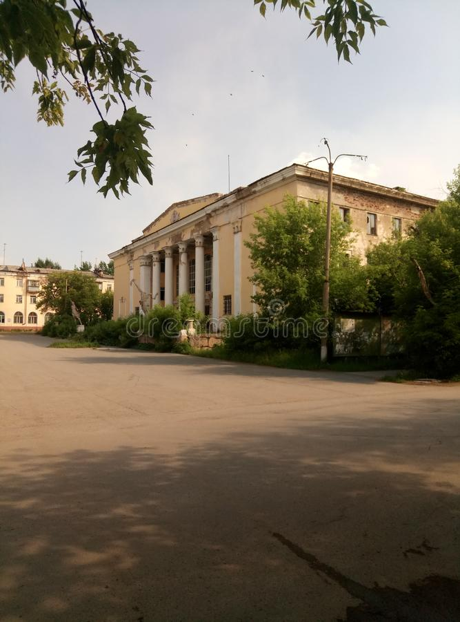 de ruïnes van de vernietigde geschiedenis van de USSR royalty-vrije stock afbeelding
