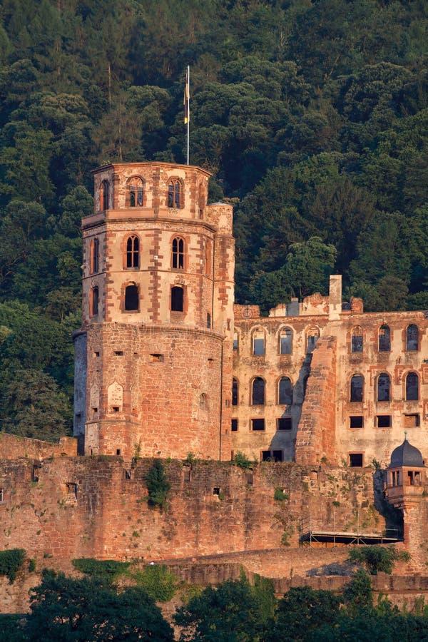 De ruïnesdeur van Poggioreale in balkon royalty-vrije stock fotografie