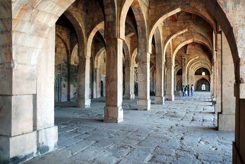 De ruïnestad van Mandu stock foto's