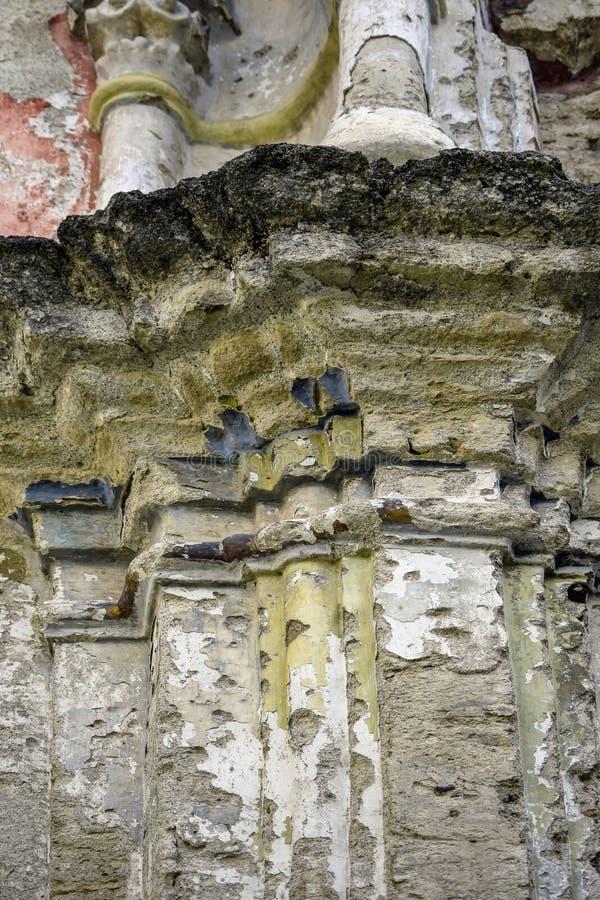 De ru?nes van een oude synagoge stock afbeelding
