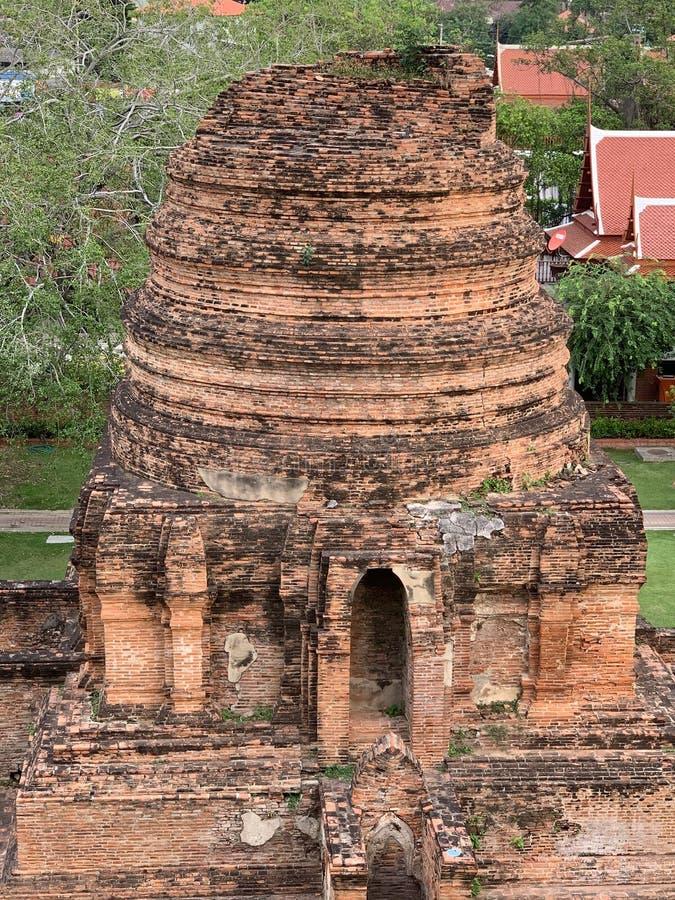 De ru?nes van de oude tempel stock afbeeldingen