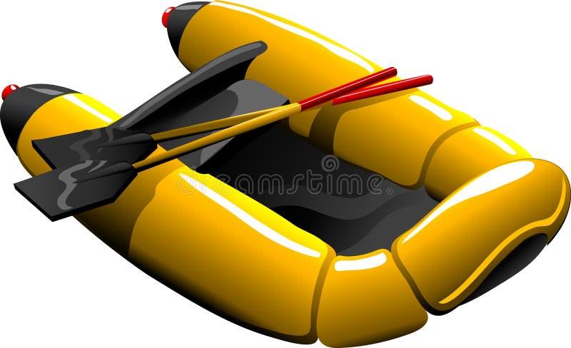 De rubberboot van het beeldverhaal royalty-vrije illustratie