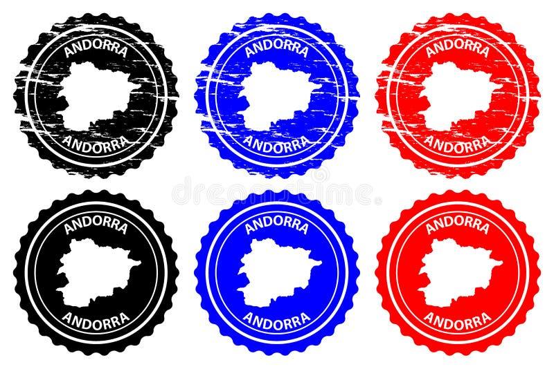 De rubberzegel van Andorra stock illustratie