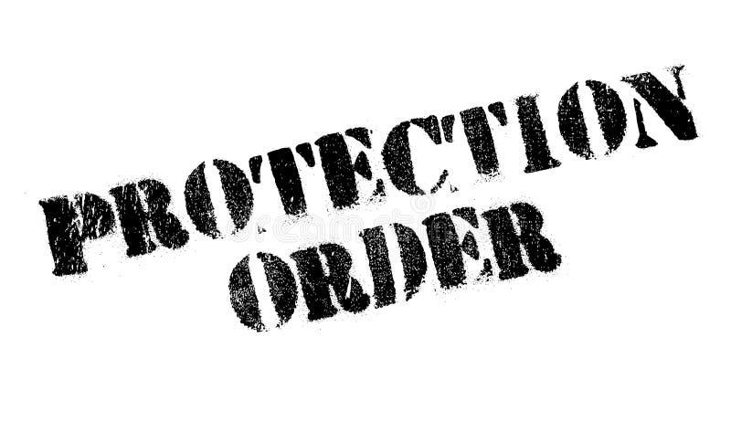De rubberzegel van de beschermingsorde stock illustratie