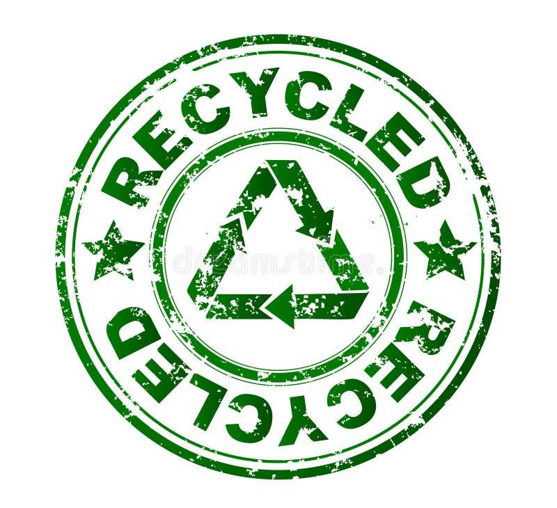 De rubberzegel van de ecologie stock illustratie