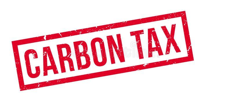 De rubberzegel van de koolstofbelasting stock illustratie
