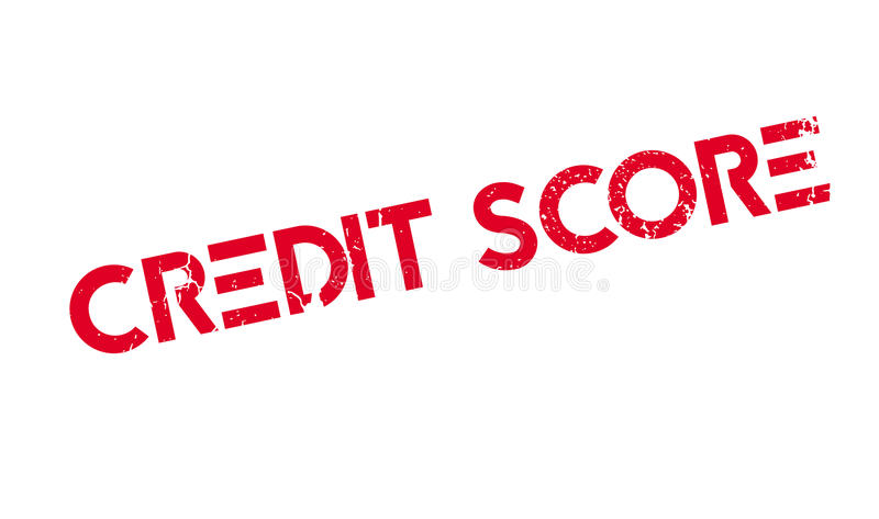 De rubberzegel van de kredietscore vector illustratie