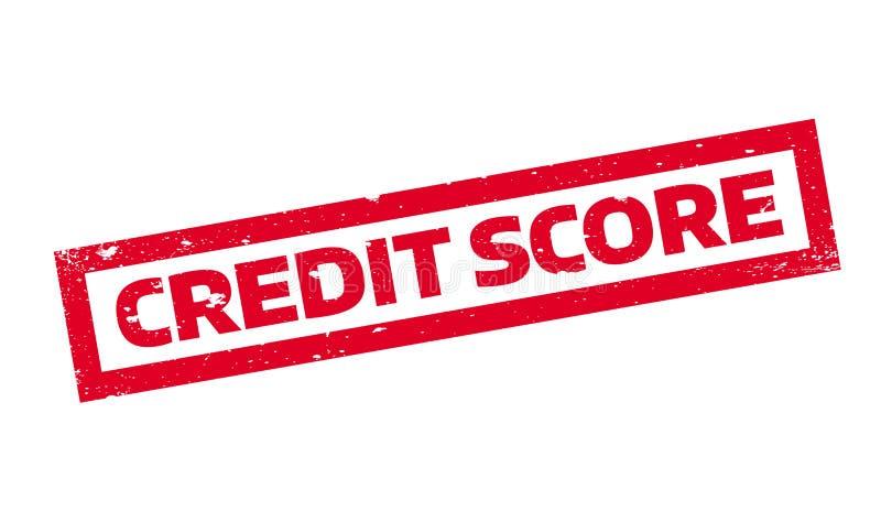 De rubberzegel van de kredietscore royalty-vrije illustratie