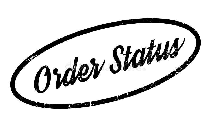 De rubberzegel van de ordestatus vector illustratie