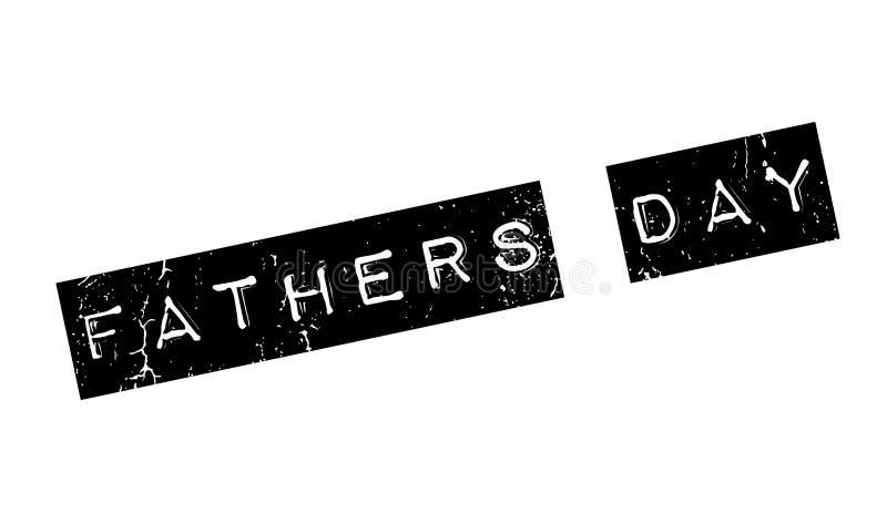 De rubberzegel van de vadersdag vector illustratie