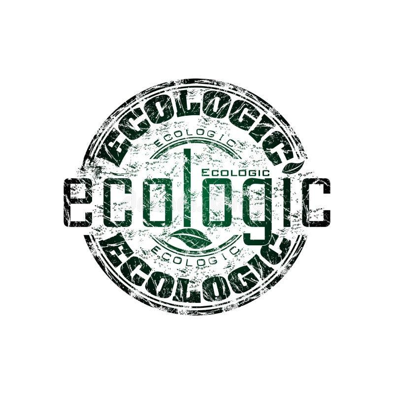 De rubberzegel van Ecologic stock illustratie