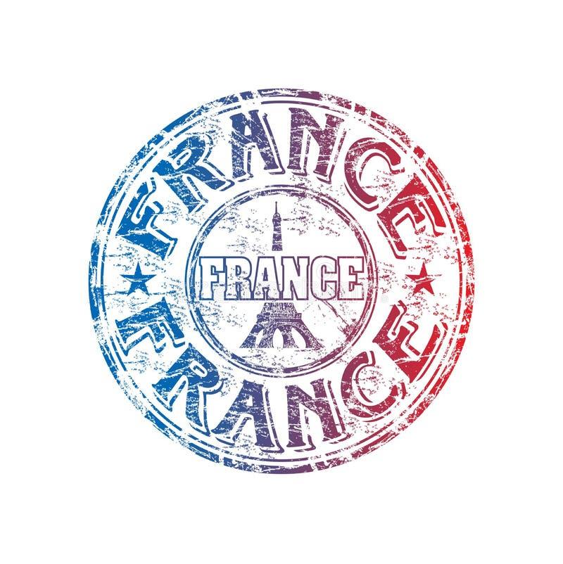 De rubberzegel van Frankrijk grunge