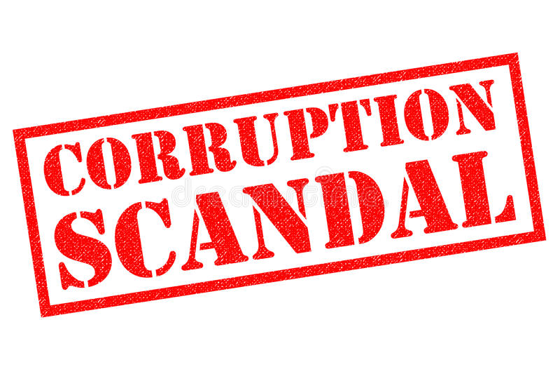 De Rubberzegel van het CORRUPTIEschandaal vector illustratie