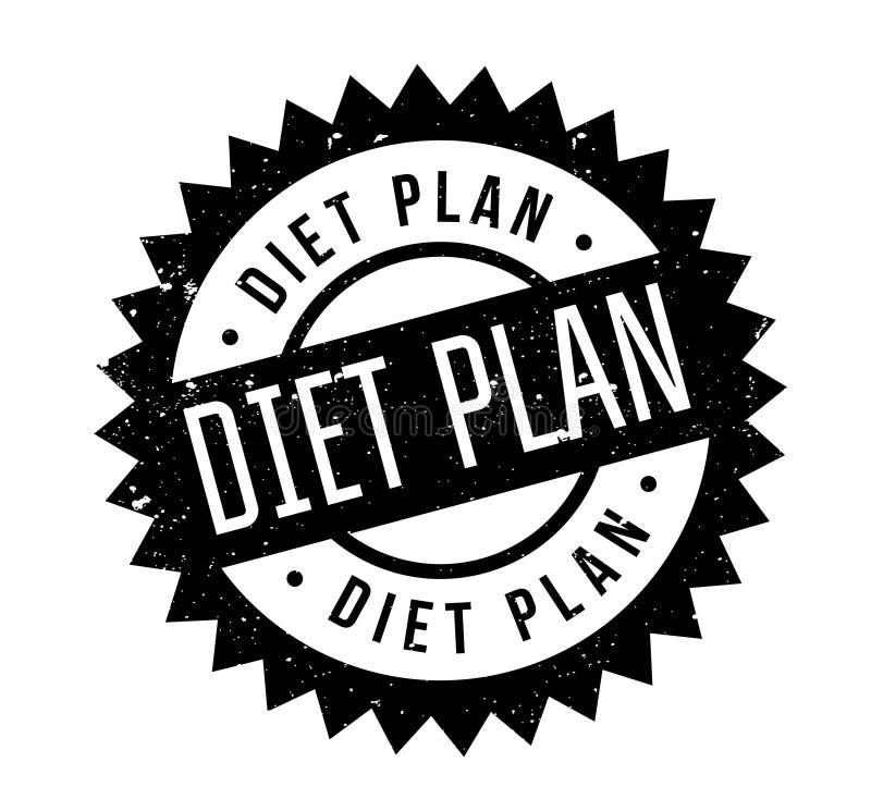 De rubberzegel van het dieetplan vector illustratie