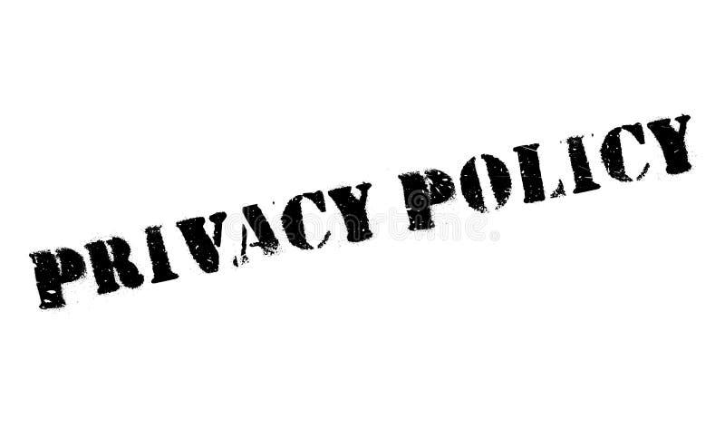 De rubberzegel van het privacybeleid stock illustratie