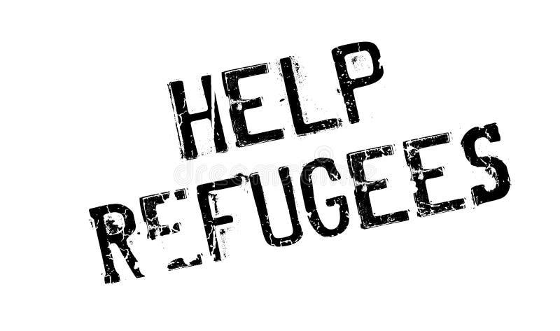 De rubberzegel van hulpvluchtelingen stock illustratie
