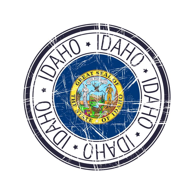 De rubberzegel van Idaho vector illustratie