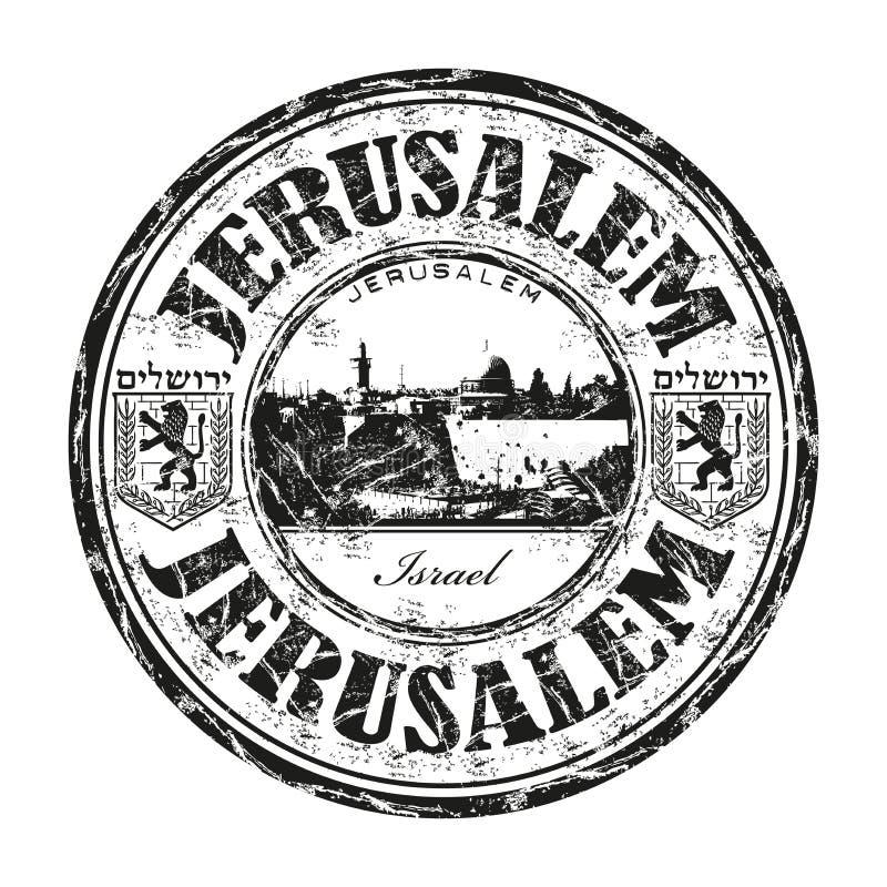 De rubberzegel van Jeruzalem grunge vector illustratie