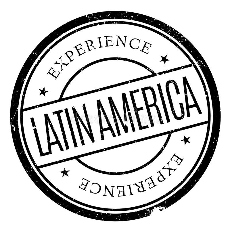 De rubberzegel van Latijns Amerika stock illustratie