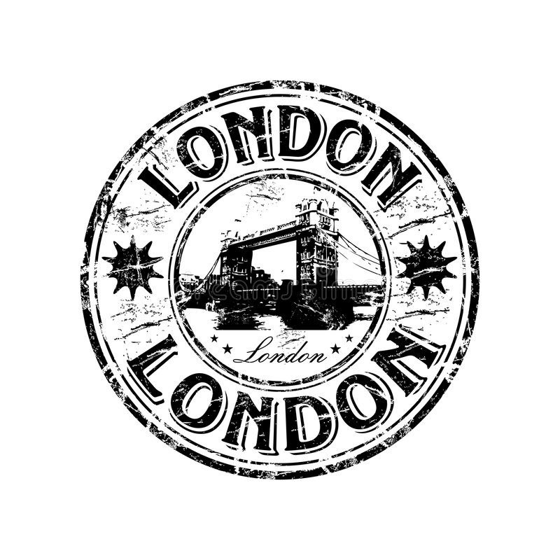 De rubberzegel van Londen grunge stock illustratie
