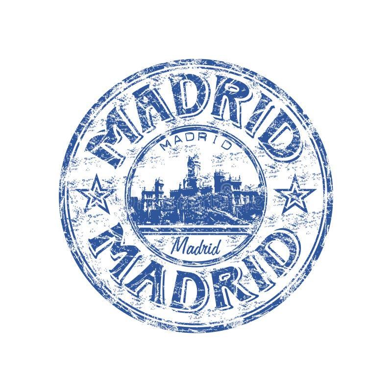 De rubberzegel van Madrid grunge royalty-vrije illustratie