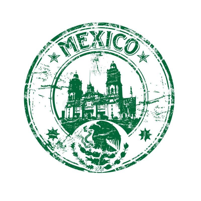 De rubberzegel van Mexico stock illustratie