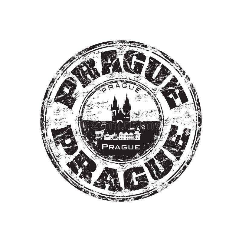 De rubberzegel van Praag grunge royalty-vrije illustratie
