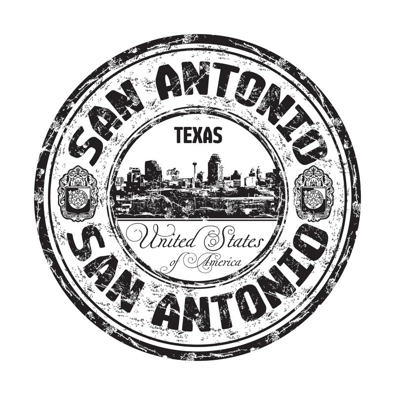 De rubberzegel van San Antonio grunge vector illustratie
