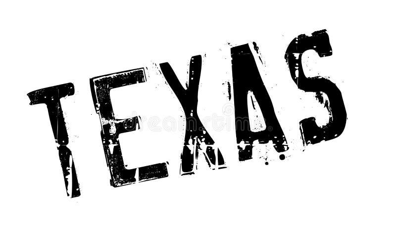 De rubberzegel van Texas stock illustratie