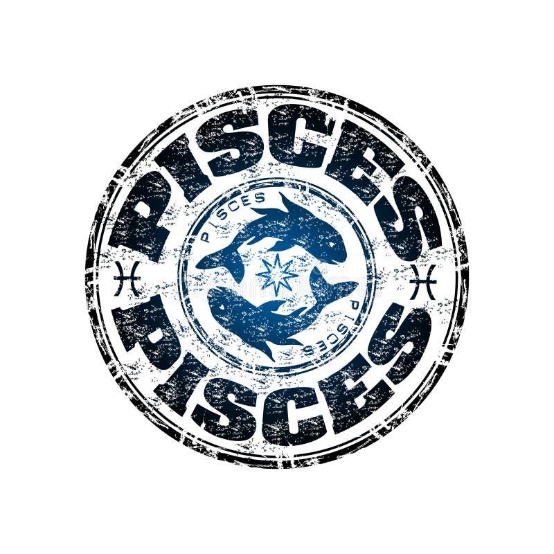De rubberzegel van Vissen grunge royalty-vrije illustratie