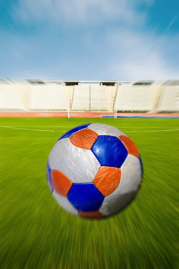De Rubriek van de Bal van het voetbal het Doel stock fotografie