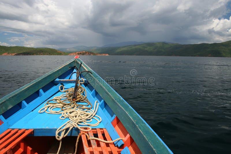 De rubriek van de boot het land royalty-vrije stock foto