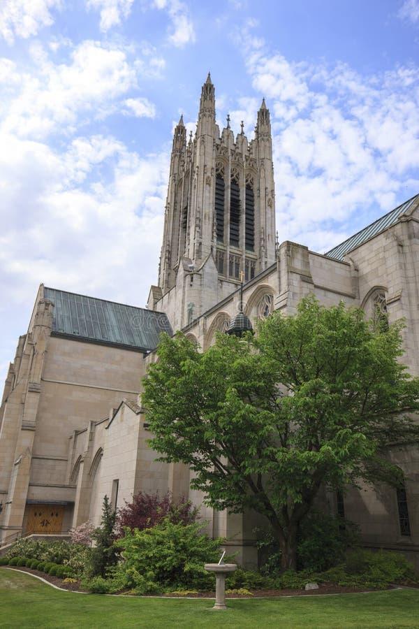 De rug van St Johns kerk royalty-vrije stock foto's