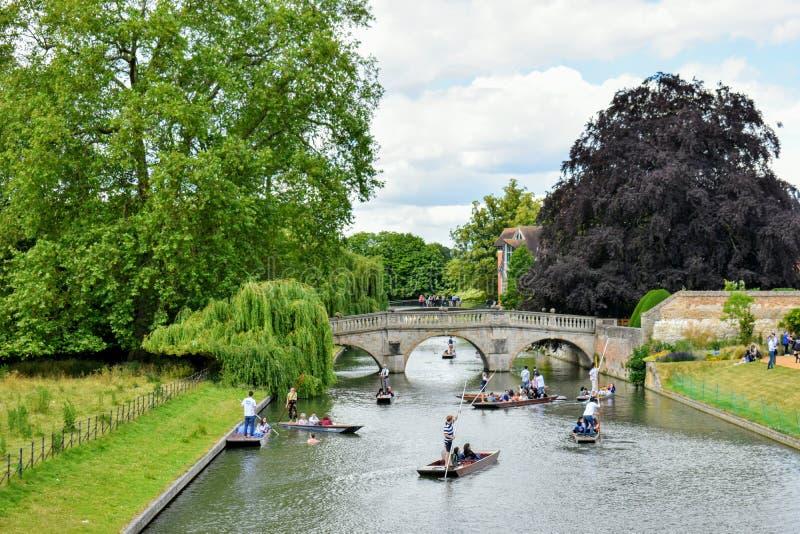 De Ruggen, Park in Cambridge @ het UK royalty-vrije stock foto