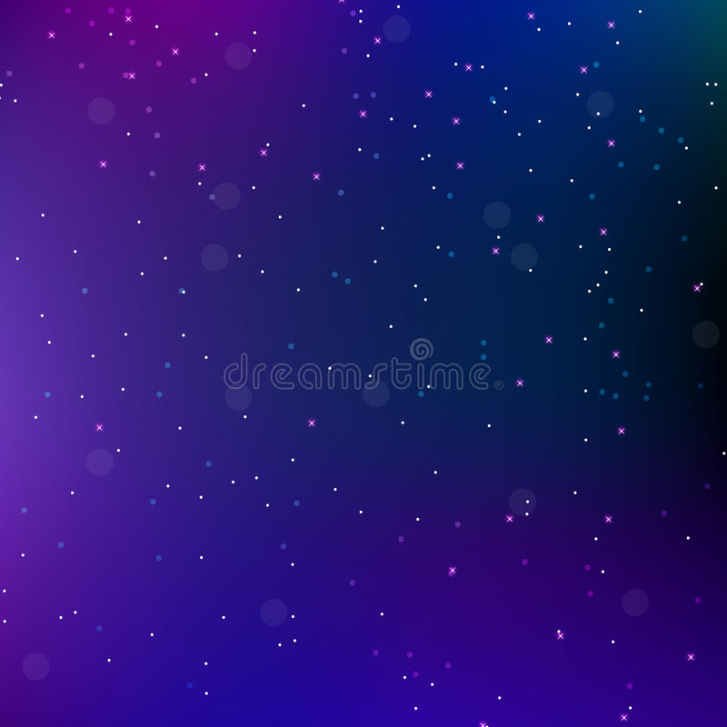 De ruimte abstracte achtergrond van de hemelnacht met sterren Heelalachtergrond Vector illustratie stock illustratie