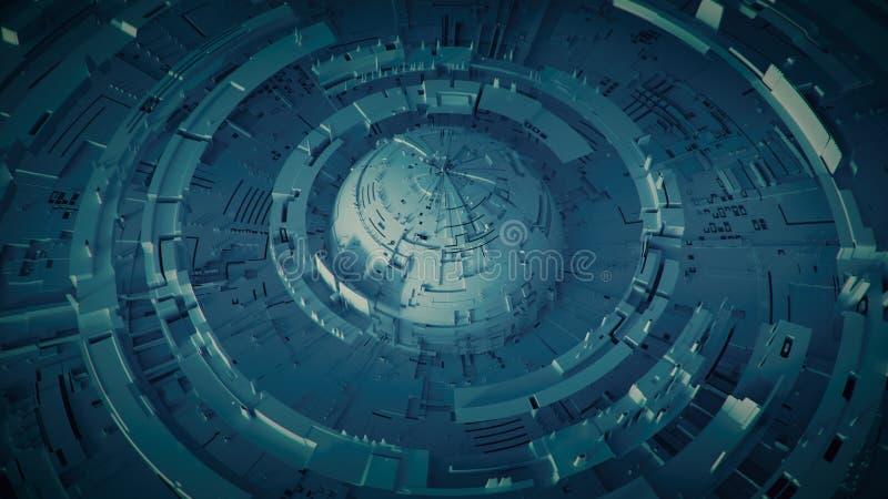 De ruimte 3D teruggevende illustratie van het basisontwerp vector illustratie