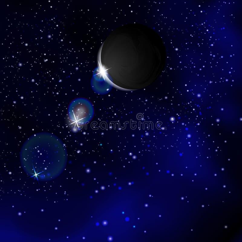 De ruimte Planeet vóór de zon royalty-vrije illustratie