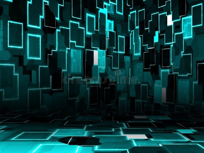 De ruimte van Cyber royalty-vrije illustratie