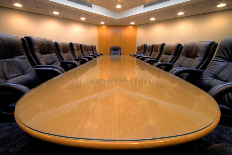 De ruimte van de de vergaderingsraad van de conferentie