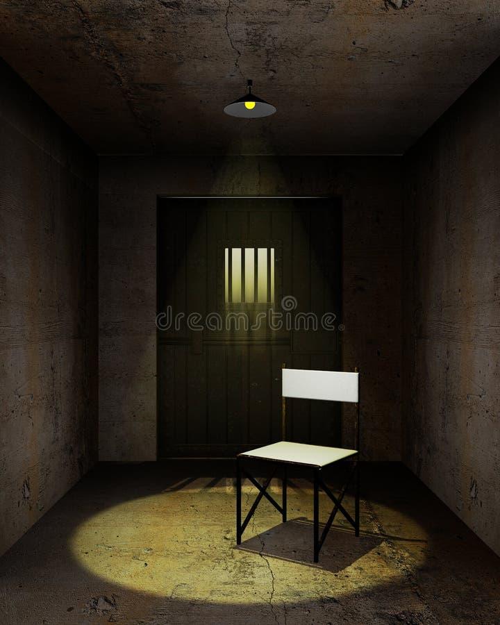 De ruimte van de ondervraging vector illustratie