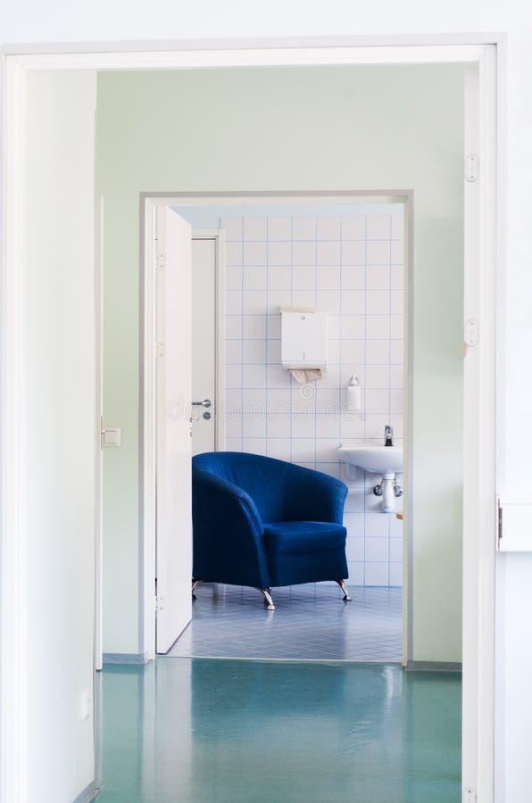 De ruimte van de rust in het ziekenhuis stock foto