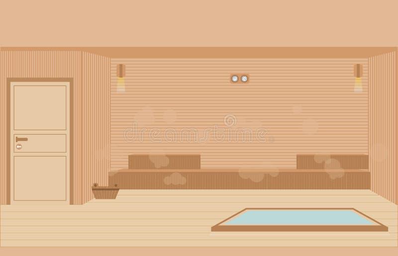 De ruimte van de saunastoom stock illustratie