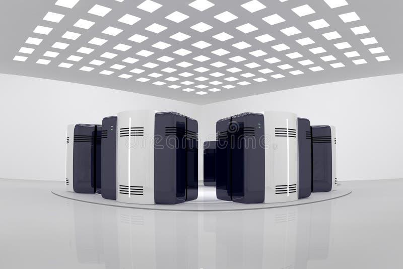 De ruimte van de server stock illustratie