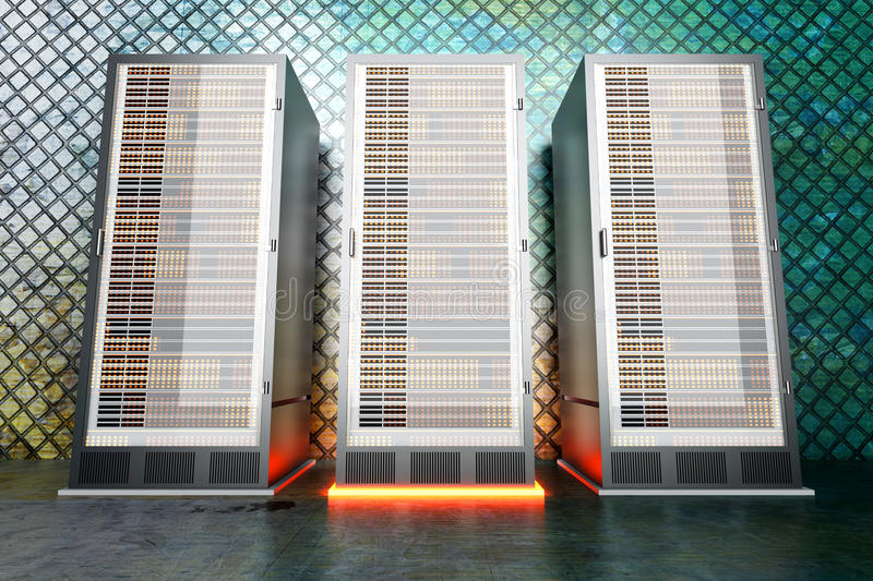 De ruimte van de Server van het metaal stock illustratie