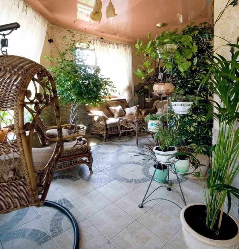 De ruimte van de tuin voor rust royalty-vrije stock foto