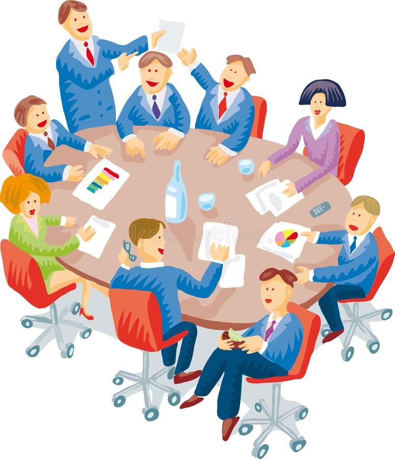 De ruimte van de vergadering royalty-vrije illustratie