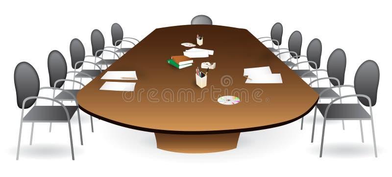 De ruimte van de vergadering - bestuurskamer royalty-vrije illustratie