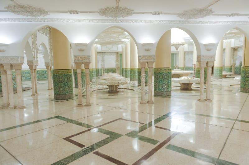 De ruimte van de was binnen een moskee royalty-vrije stock foto's