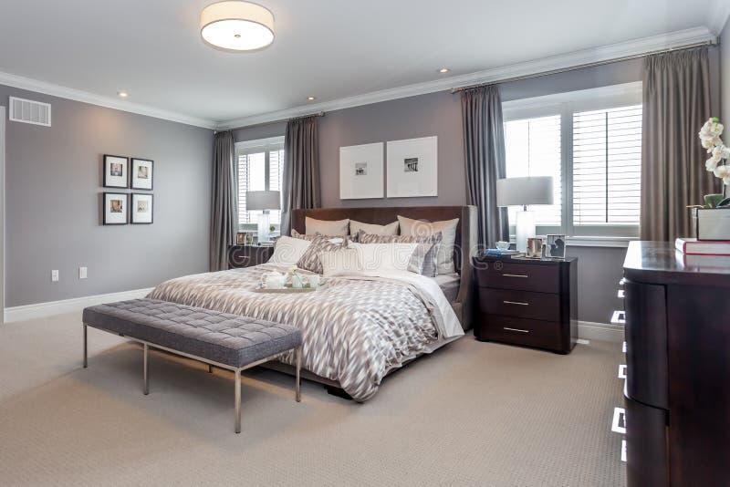 De ruimte van het bed stock afbeelding