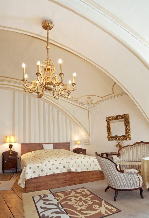 De ruimte van het hotel in uitstekende stijl stock foto